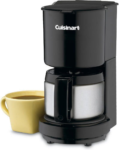 Cuisinart Black 4 Cup Coffeemaker with Stainless Steel Carafe