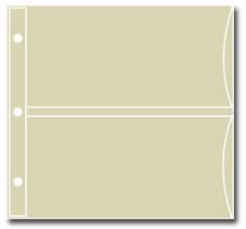 "Set of 20 Refill Pages - Hold 4"" x 6"" Cards for Pocket Recipe Books"
