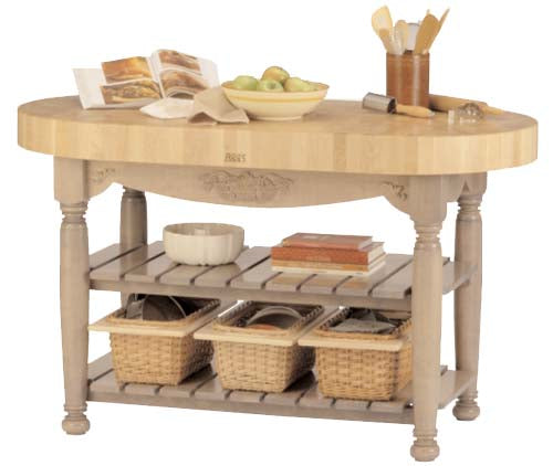 "John Boos Harvest Table 60"" x 30"" x 4"" Useful Gray"