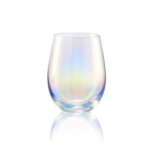 Artland Luster Clear Stemless Wine Glass