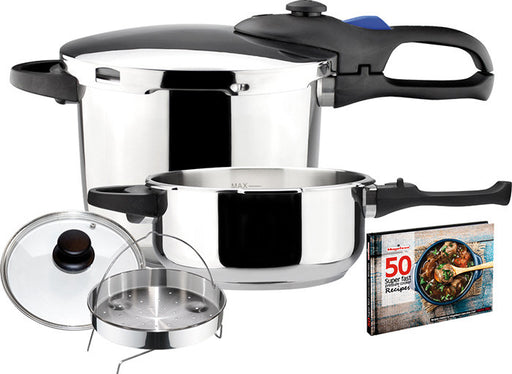Magefesa Favorit Trio Stainless Steel Pressure Cooker Set