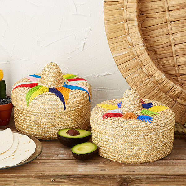 Otomi Handwoven Tortilla Baskets Assorted