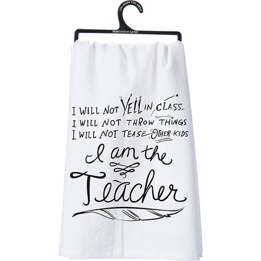Primitives By Kathy I Am The Teacher Tea Towel