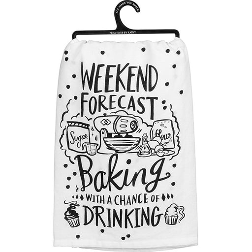 Primitives By Kathy Weekend Forecast Baking Tea Towel