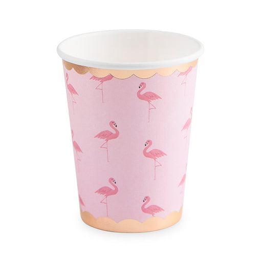 Set of 8 Flamingo Paper Cups