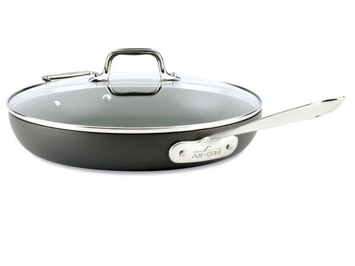 "All Clad Hard Anodized Nonstick 12"" Fry Pan with Lid"