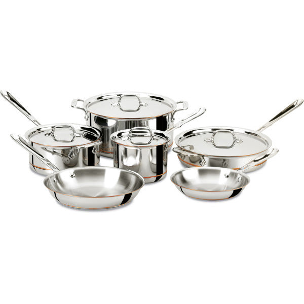 All Clad 10 Piece Copper Core Cookware Set