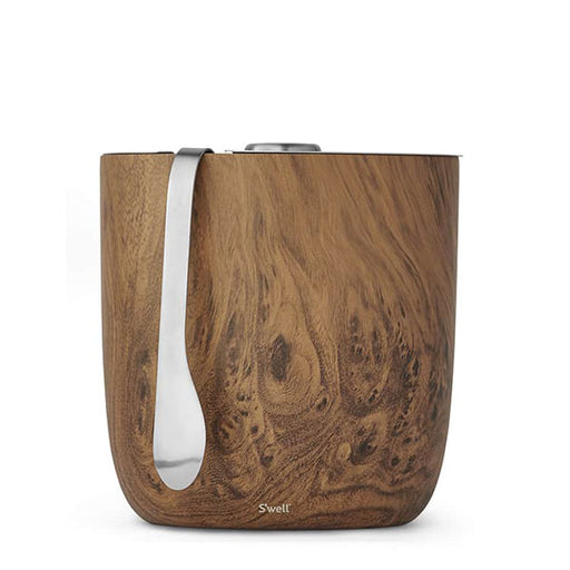 S'well Teakwood Ice Bucket & Tongs