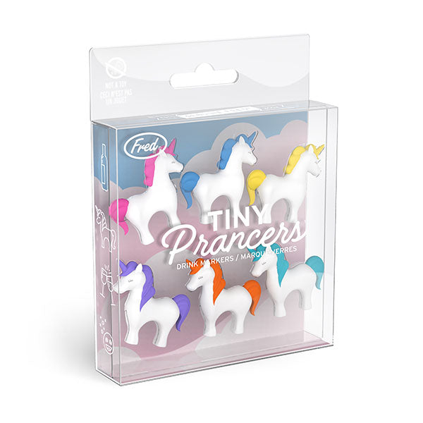 Fred Set of 6 Tiny Prancers Unicorn Wine Glass Charms