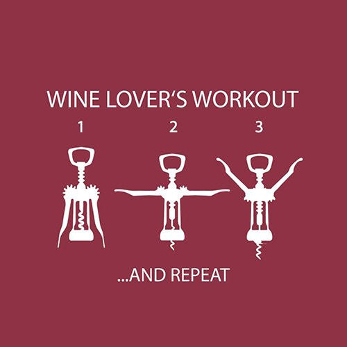Wine Lover's Workout Paper Beverage Napkins