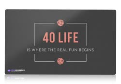 40 life magic the gathering mtg playmat