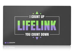 lifelink magic the gathering mtg playmat
