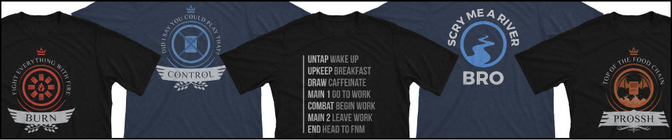 magic the gathering custom funny t-shirt and playmat designs