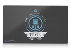 tron v1 blue version magic the gathering mtg playmat