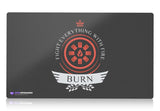 Playmat -  Burn Life V1 Magic the Gathering - mtg
