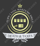 Death and Taxes Life V1 - Magic the Gathering Unisex T-Shirt - mtg