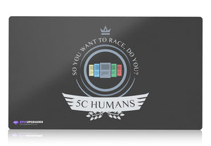 Playmat -  Five Color Humans Life Magic the Gathering - mtg