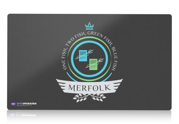 Playmat - UG Merfolk Life Magic the Gathering - mtg