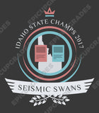 Playmat - Seismic Swans Life Magic the Gathering