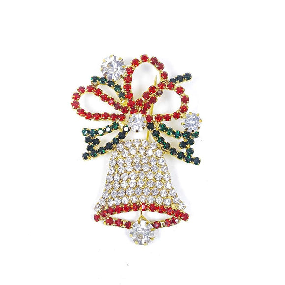 Christmas Bell Brooch