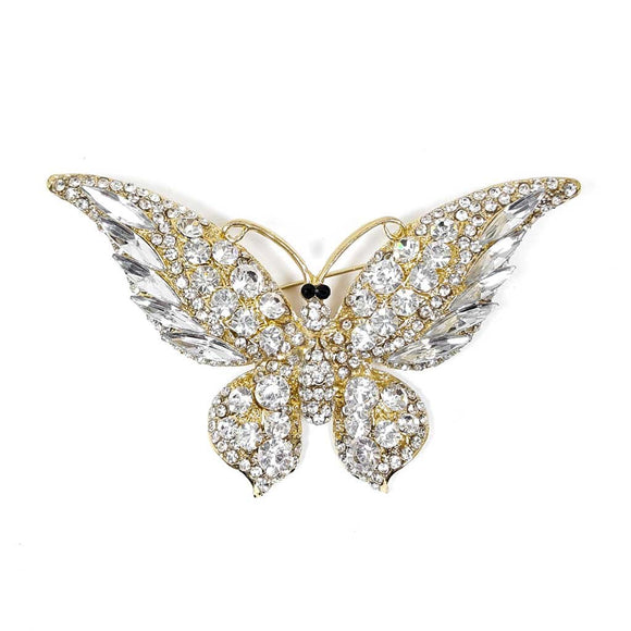 Luxury Rhinestone Butterfly Shape Brooch
