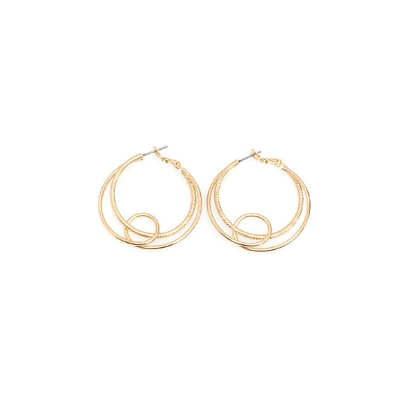 Bi-Layer Hoop Earrings