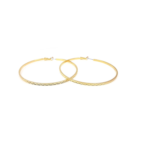 Textured Hoop Earrings 1.5