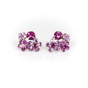 Pink Crystal Stone Studs