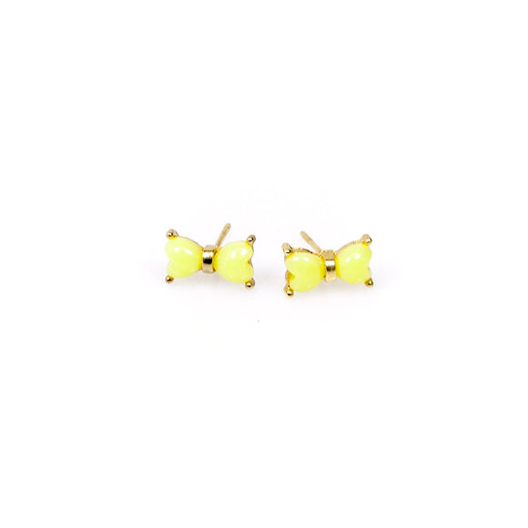 Yellow Ribbon Stud Earrings