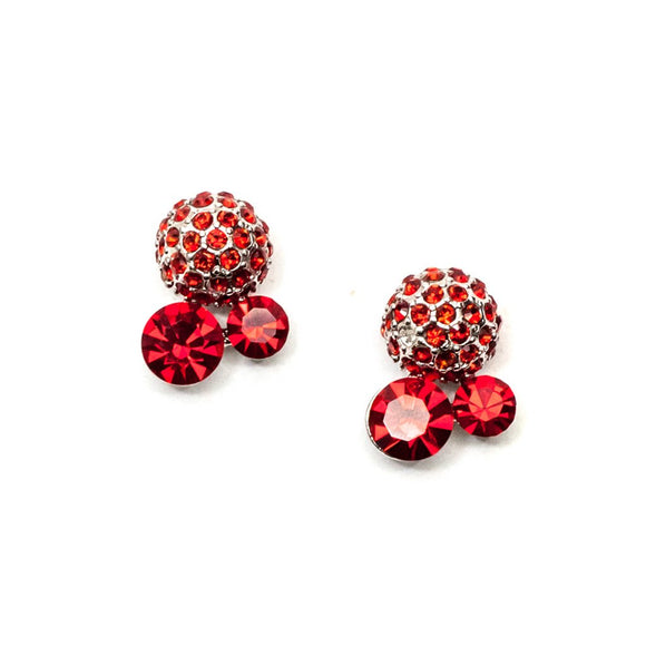 Red Swarovski Stud Earrings
