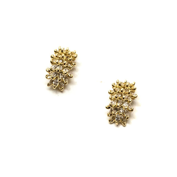 Flower Gold Shape Swarovski Stud Earrings
