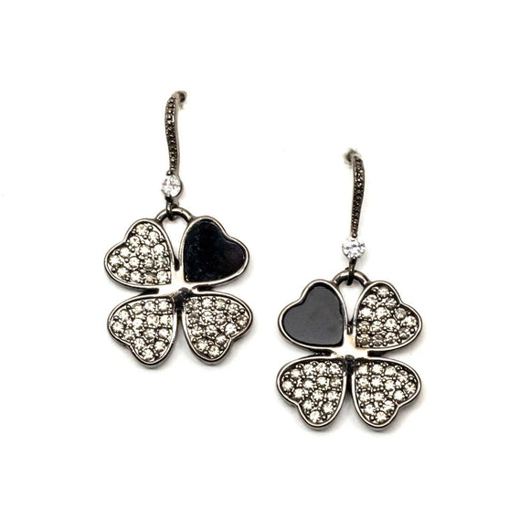 Clover Rhinestone Earrings