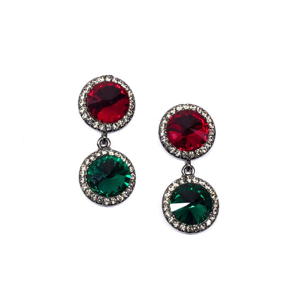 Two Circular Swarovski Earrings