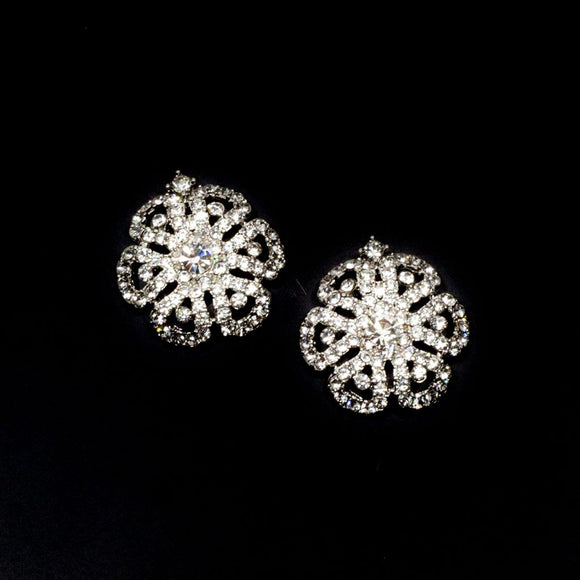 Flower Shaped Rhinestone Studs