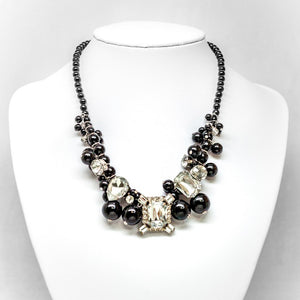 Rhinestone Cluster Necklace