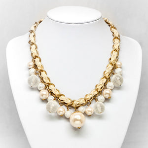 Interlaced Pearl Necklace