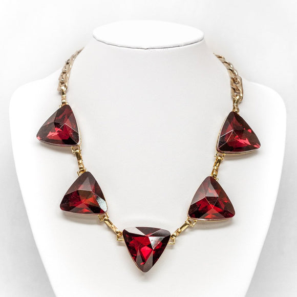 Triangular Crystal Necklace