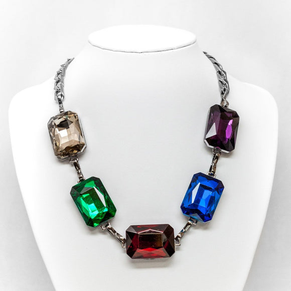 Square Gem Necklace