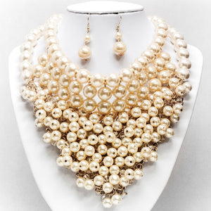 Pearl Bundle Necklace and Earring Set