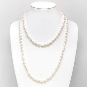Two Layer Pearl Drape Necklace