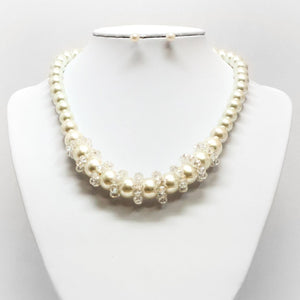 Pearl Orbit Necklace and Earring Set