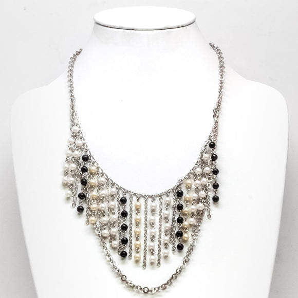 Chained Pearl Necklace