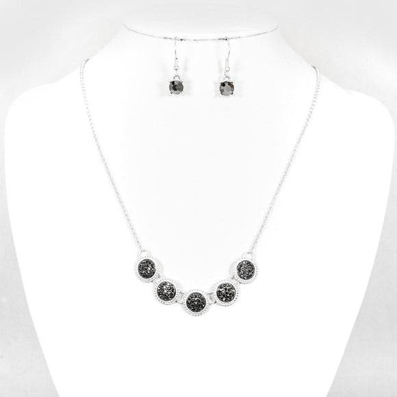 Rhinestone Silver Necklace