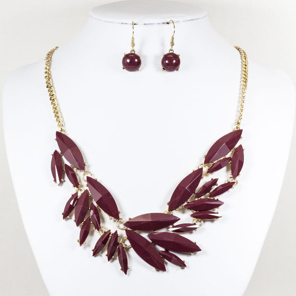 Acrylic Leaf Shape Necklace