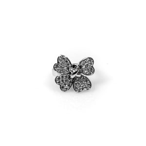 Four Clover Leaf Shape Rings