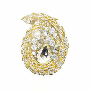 OverSize Waterdrop Oval shape Brooch
