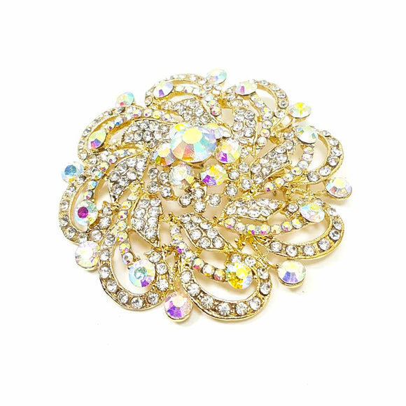 Gold Flower Shape Brooch