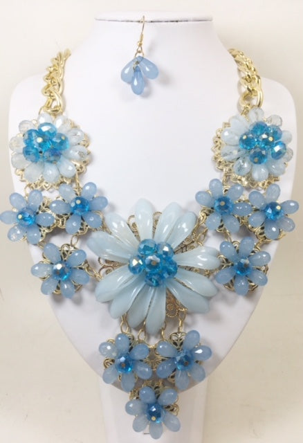 Flawer Blue Necklace