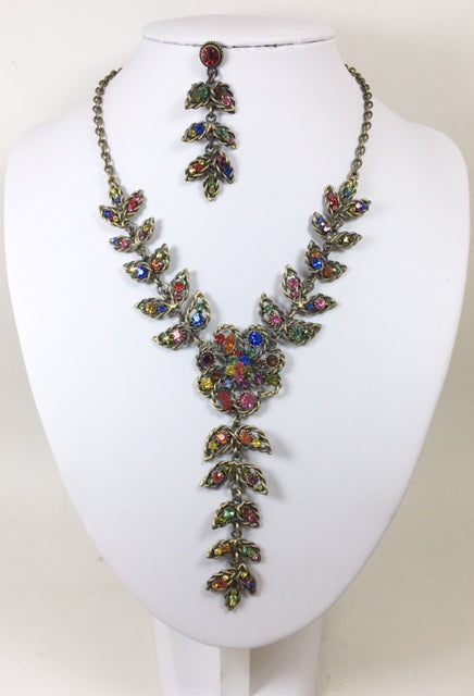 Multi Color Rhinestone Necklece