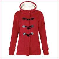 Long Sleeve Velvet fall,Winter women  Hooded Button Warm Coat.